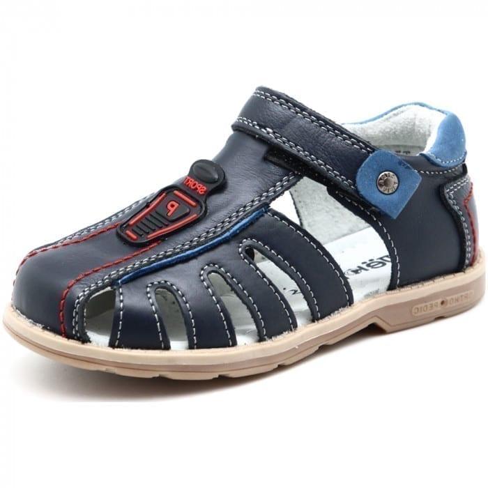 Детские сандалии для мальчиков ОРЛЕНОК из натуральной кожи, цвет: синий, артикул: ORL_3960-BLUE