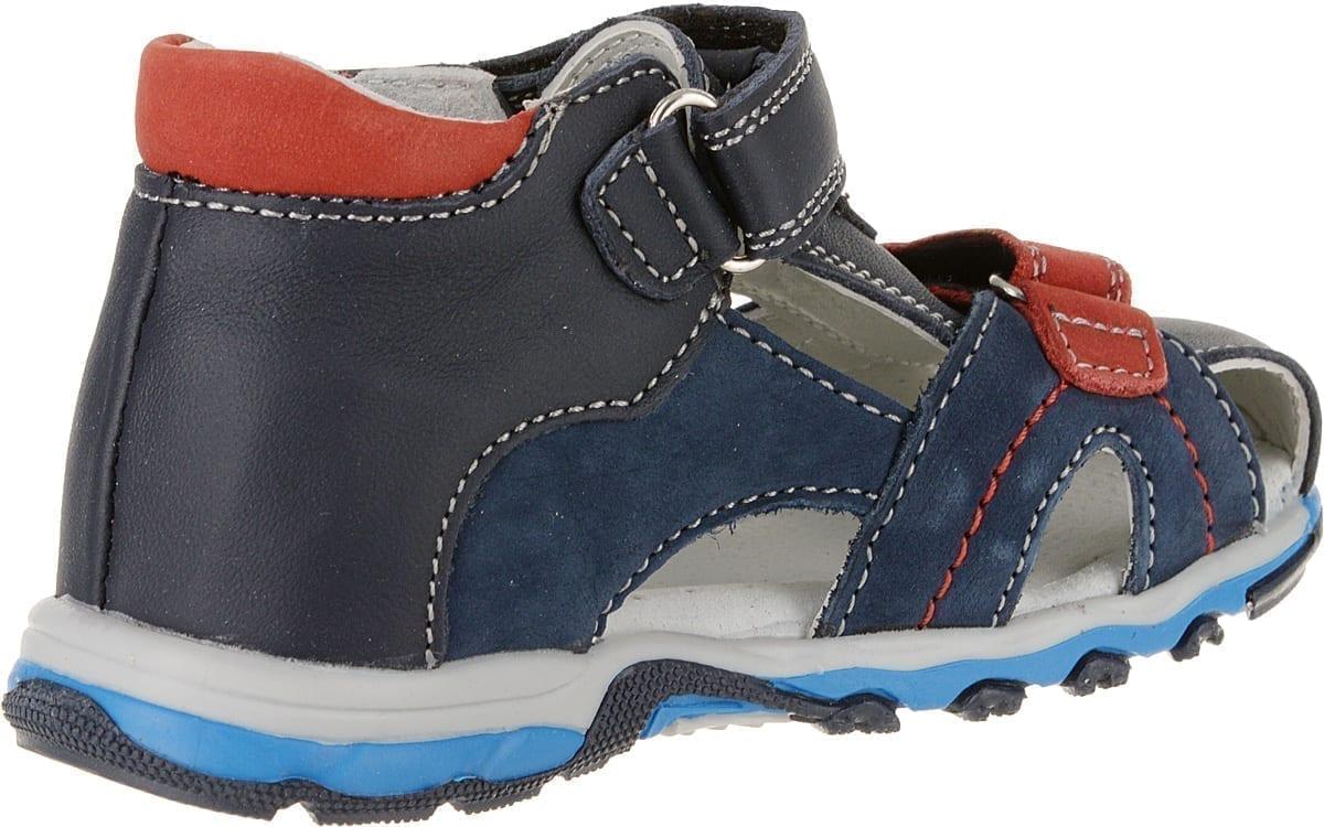 Детские сандалии для мальчиков Капитошка из натуральной кожи, цвет: синий, артикул: А10629