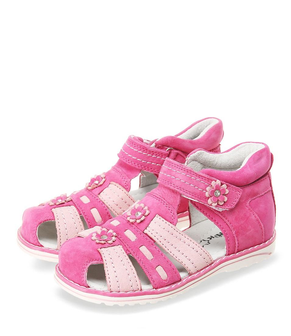 Детские сандалии для девочек ОРЛЕНОК из натуральной кожи