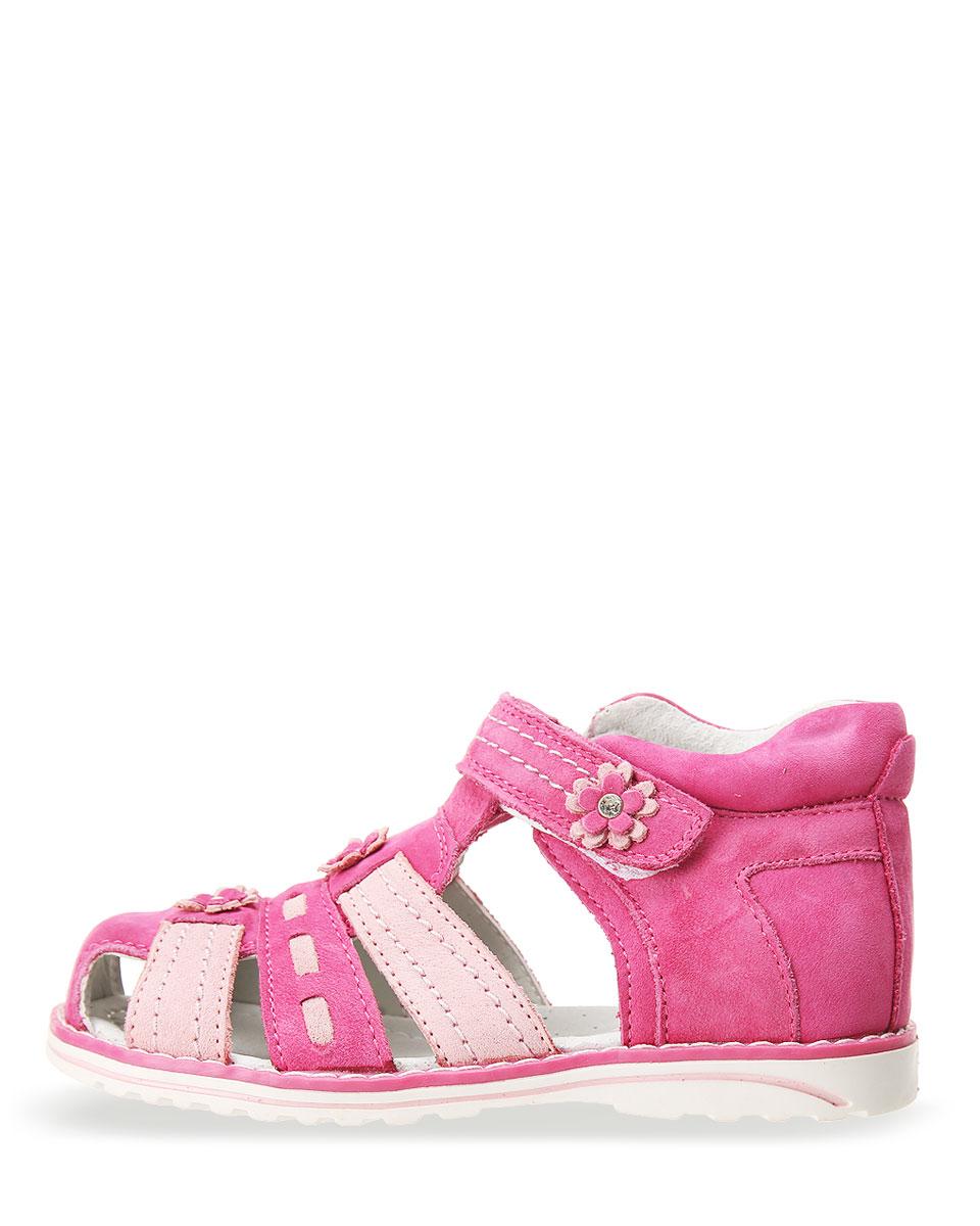 Детские сандалии для девочек ОРЛЕНОК из натуральной кожи, цвет: розовый, артикул: 3897