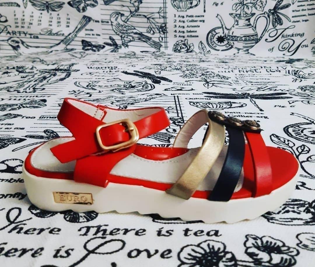 Детские сандалии для девочек КОТЕНОК, цвет: красный, артикул: a208-1
