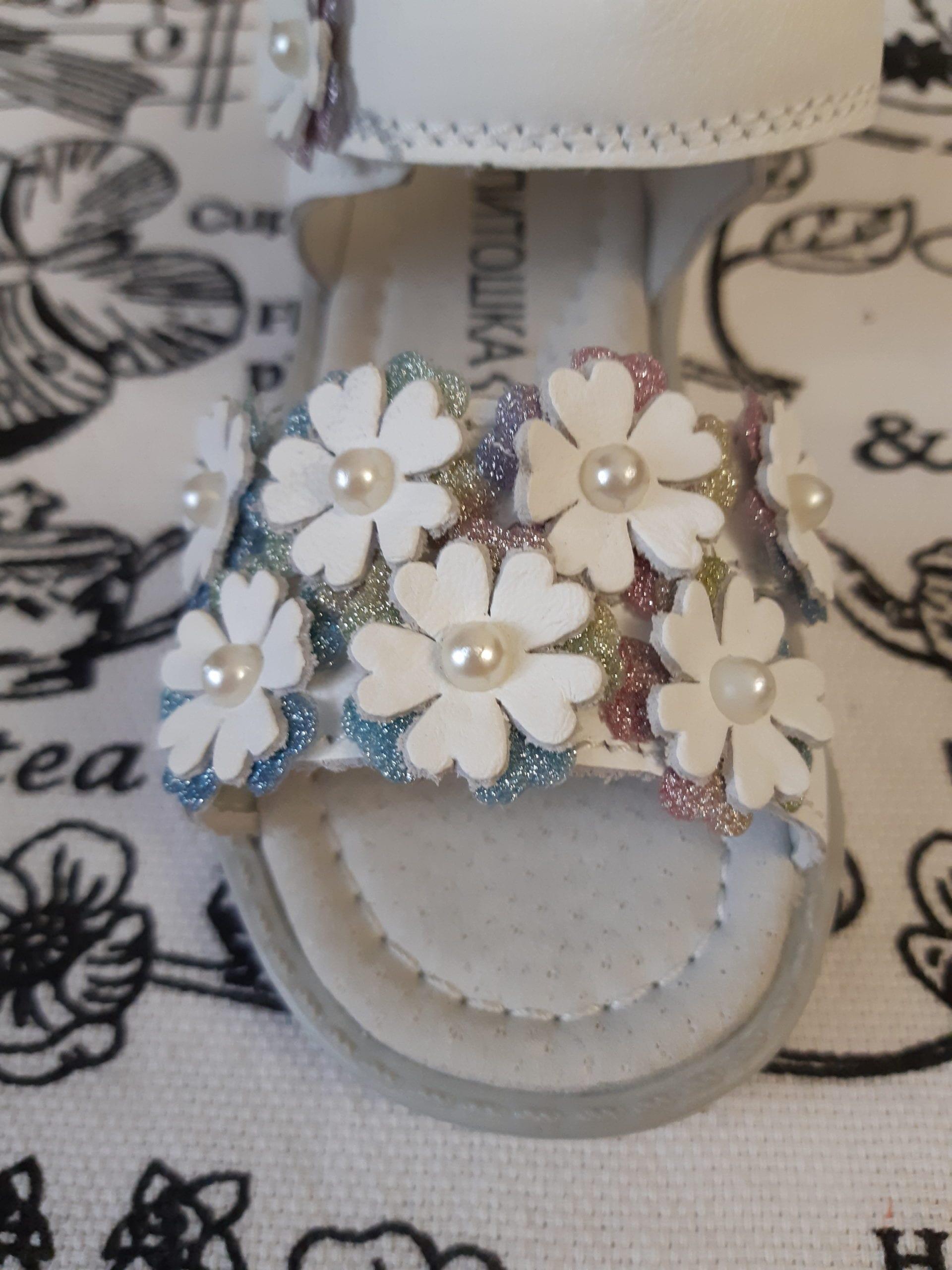 Детские босоножки для девочек КАПИТОШКА, цвет: белый, артикул: А10991