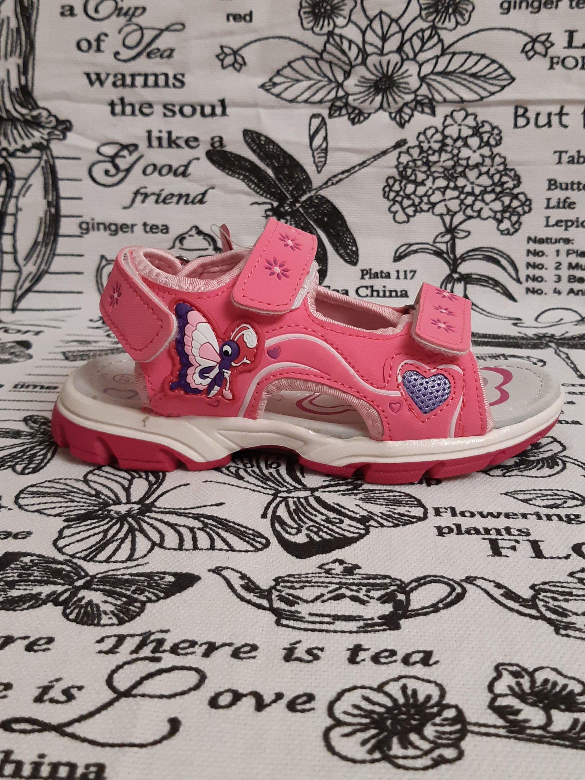Детские сандалии для девочек КОЛОБОК, цвет: розовый, артикул: 9548-2