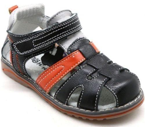 Детские сандалии для мальчиков ОРЛЕНОК из натуральной кожи, цвет: черный, артикул: 3881