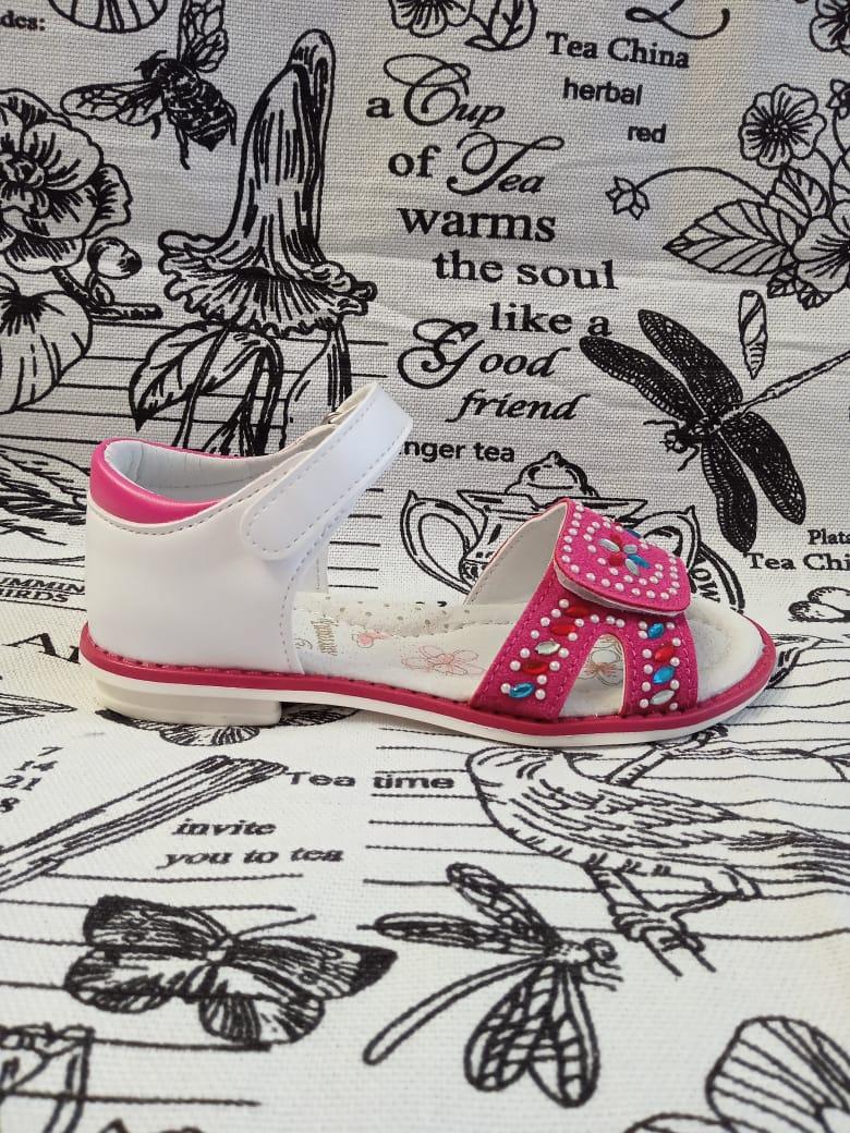 Детские сандалии для девочек ЧИПОЛЛИНО, цвет: бордовый, артикул: 6016-1