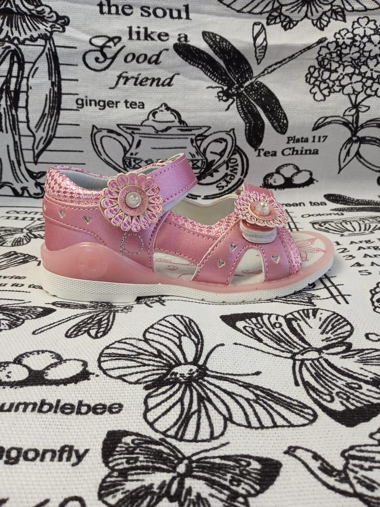 Детские сандалии для девочек К-ДЕТСТВО, цвет: розовый, артикул: КД-1