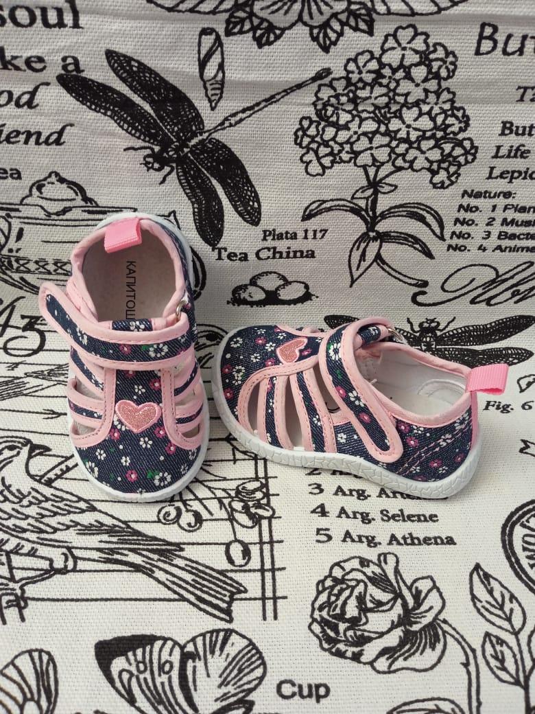 Детские сандалии для девочек КАПИТОШКА, цвет: розовый, артикул: A11739