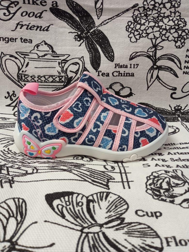 Детские сандалии для девочек КАПИТОШКА, цвет: розовый, артикул: A11653
