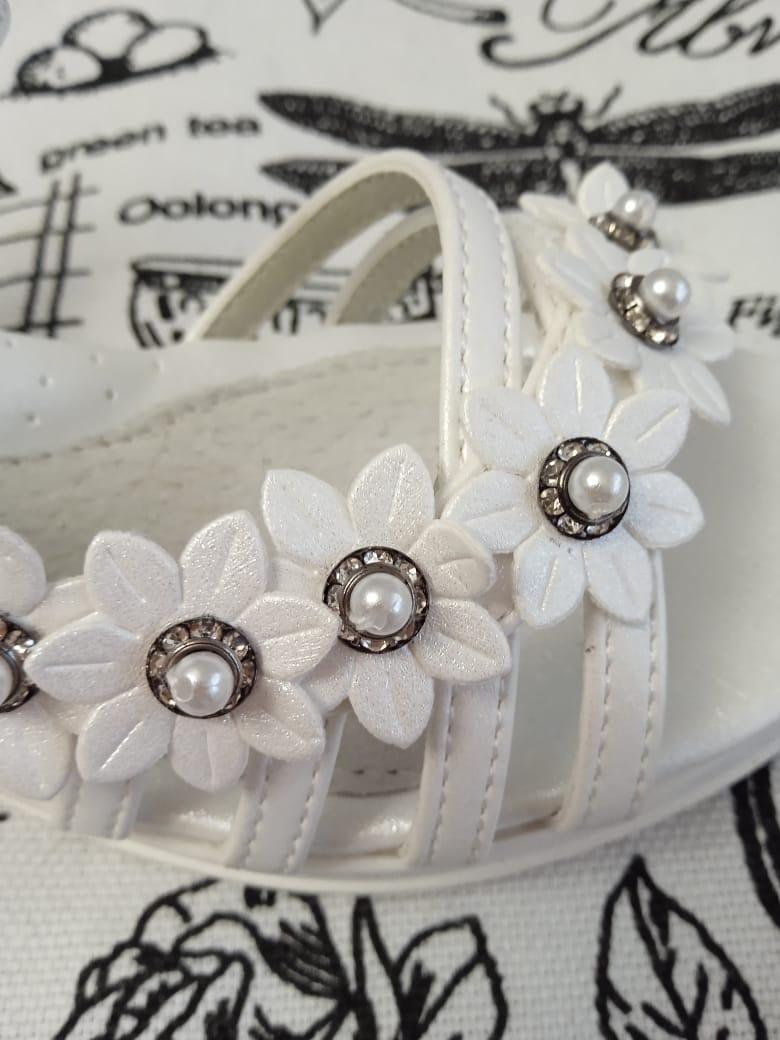 Детские сандалии для девочек КОТЕНОК, цвет: белый, артикул: MX1903-11