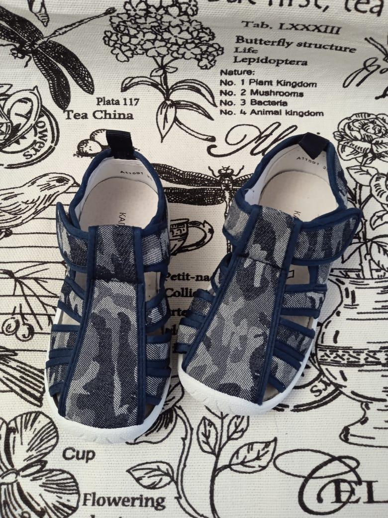 Детские сандалии для мальчиков КАПИТОШКА, цвет: синий, артикул: 11591