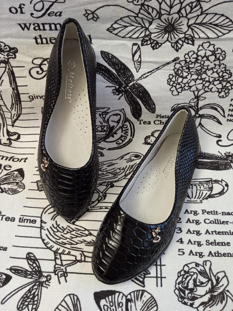 Детские туфли для девочек MEITESI, цвет: черный, артикул: 38-8