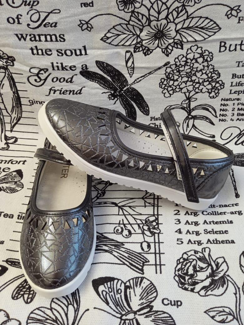 Детские туфли для девочек SISTER, цвет: серебро, артикул: 6290-38