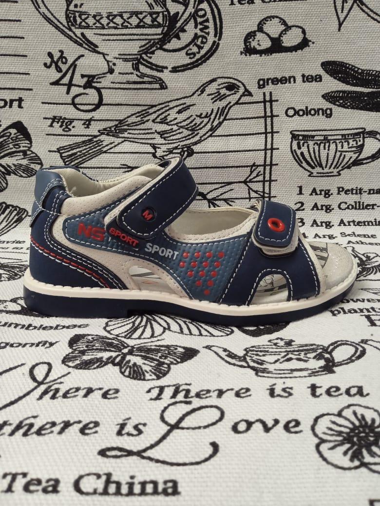 Детские сандалии для мальчиков ТОТОШКА, цвет: голубой, артикул: TOT-5