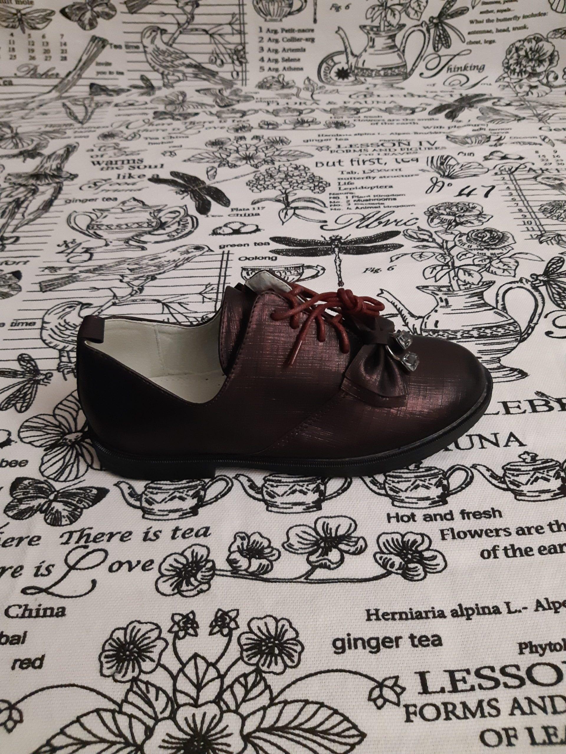 Детские туфли для девочек BESSKY, цвет: бардовый, артикул: 9032-4