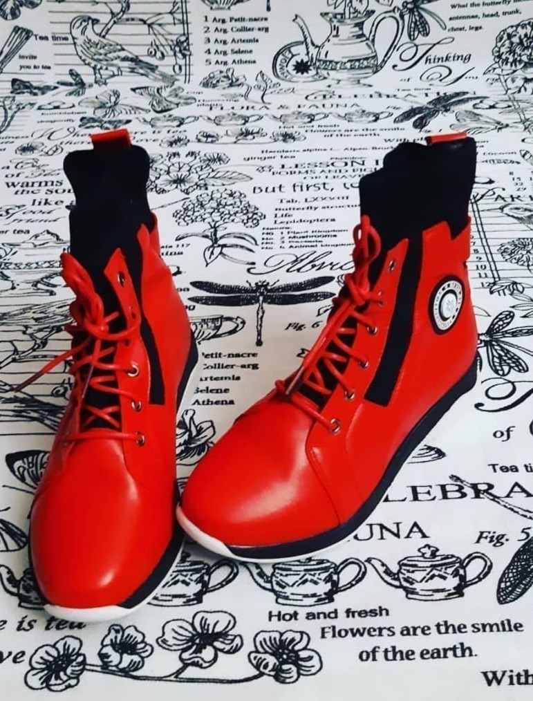 Детские ботинки для девочки EAC, цвет: красный, артикул: EAC-2