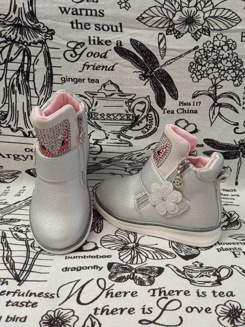 Детские ботинки для девочки ЦАРЕВНА, цвет: металлик, Артикул: AX-06