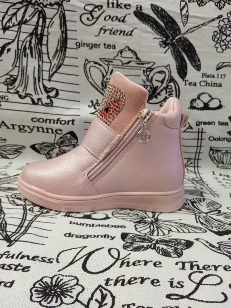 Детские ботинки для девочки ЦАРЕВНА, цвет: розовый, артикул: AX-06