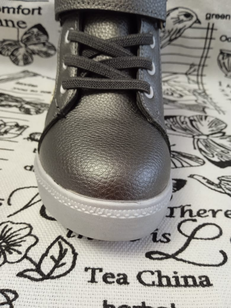 Детские ботинки для девочки ТОТОШКА, цвет: металлик, Артикул: L812H