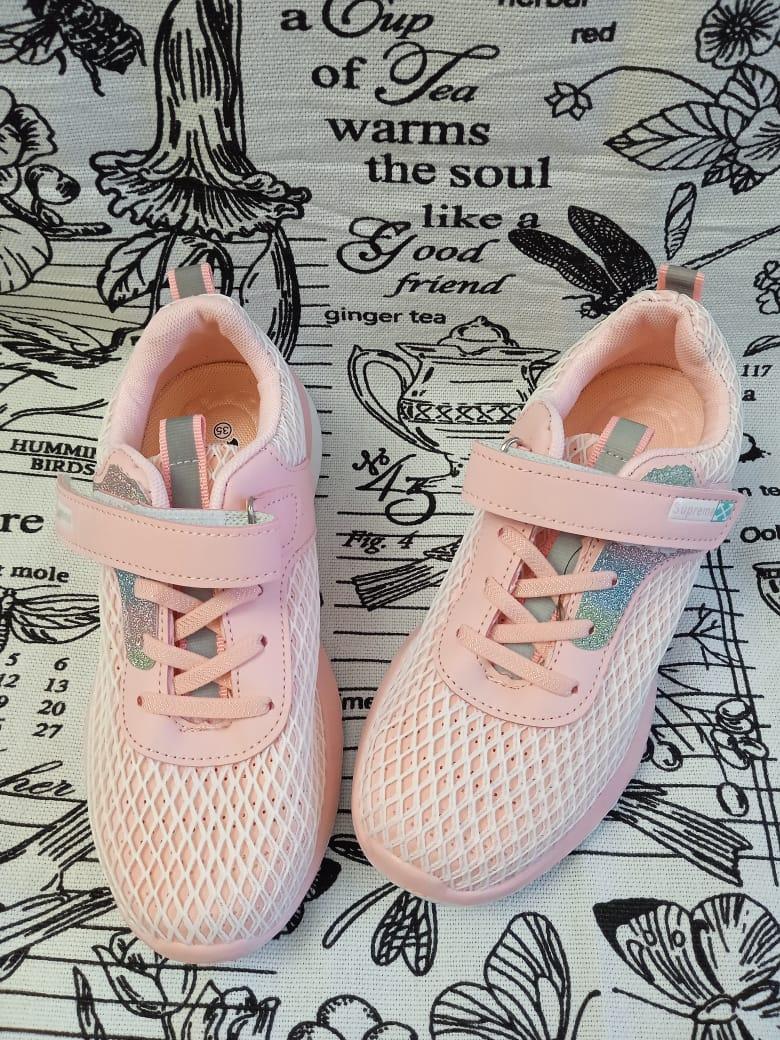 Детские кроссовки для девочек B&G, цвет: розовый, артикул: 7914