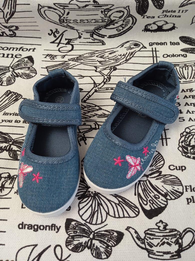 Детские кеды для девочек SISTER, цвет: синий, артикул: 9352-3-1