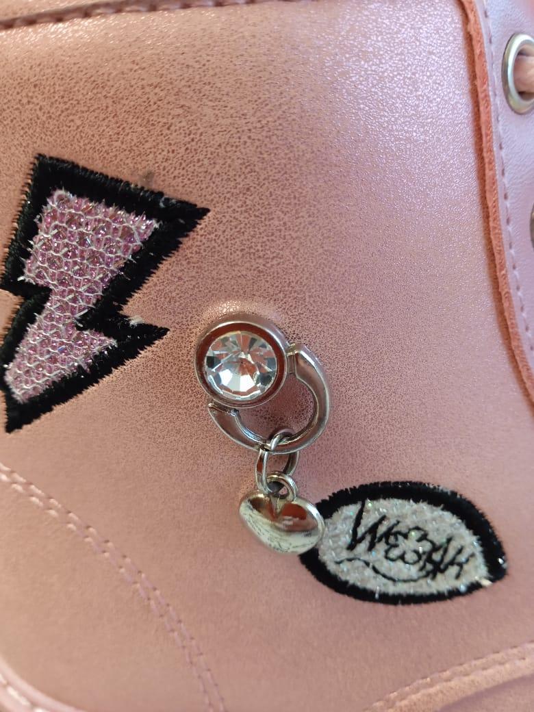 Детские ботинки для девочки EAC, цвет: розовый