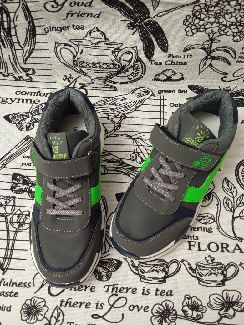 Детские кроссовки BESSKY, цвет: зеленый, артикул: B8109-5
