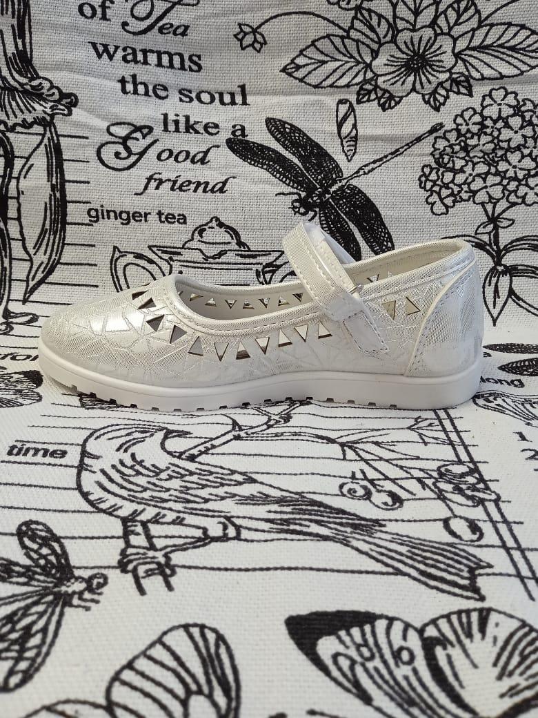 Детские туфли для девочек SISTER, цвет: белый, артикул: 9623-3