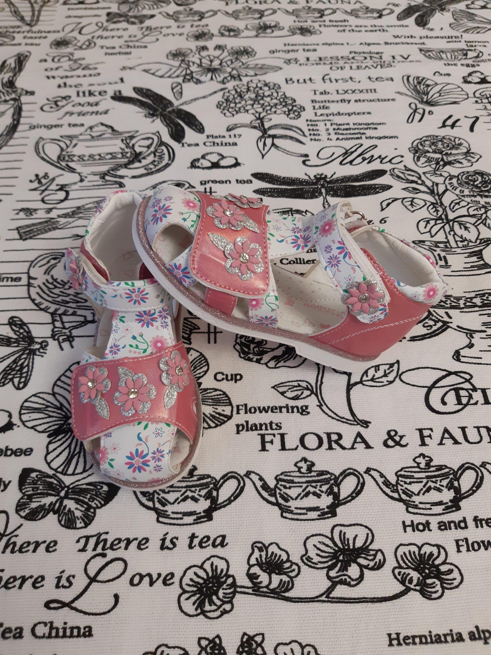 Детские босоножки для девочек ОТЛИЧНИК, цвет: белый, артикул: SL8005B