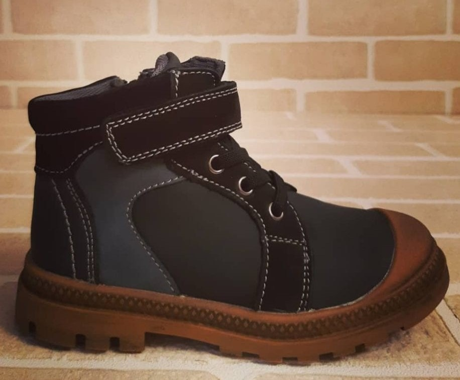 Детские ботинки для мальчиков КАПИТОШКА из натуральной кожи