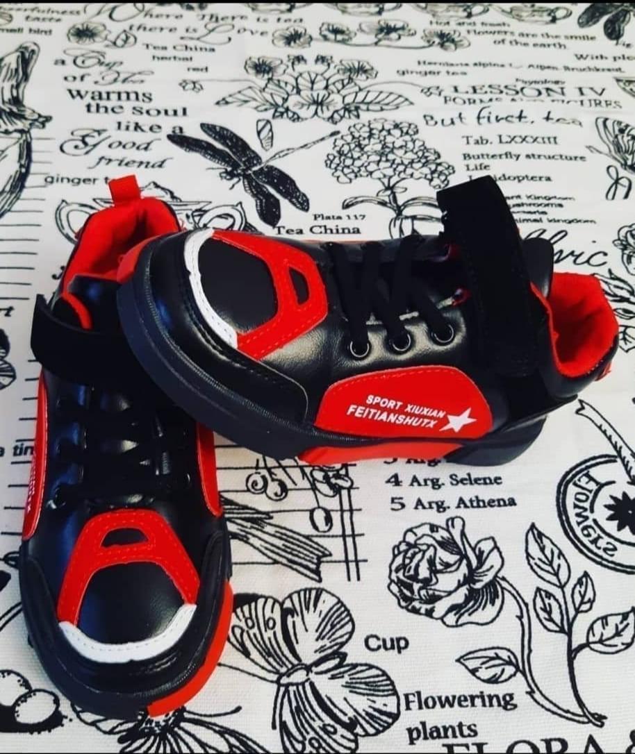 Детские кроссовки для мальчиков МЫШОНОК, цвет: красный, артикул: MOU-4