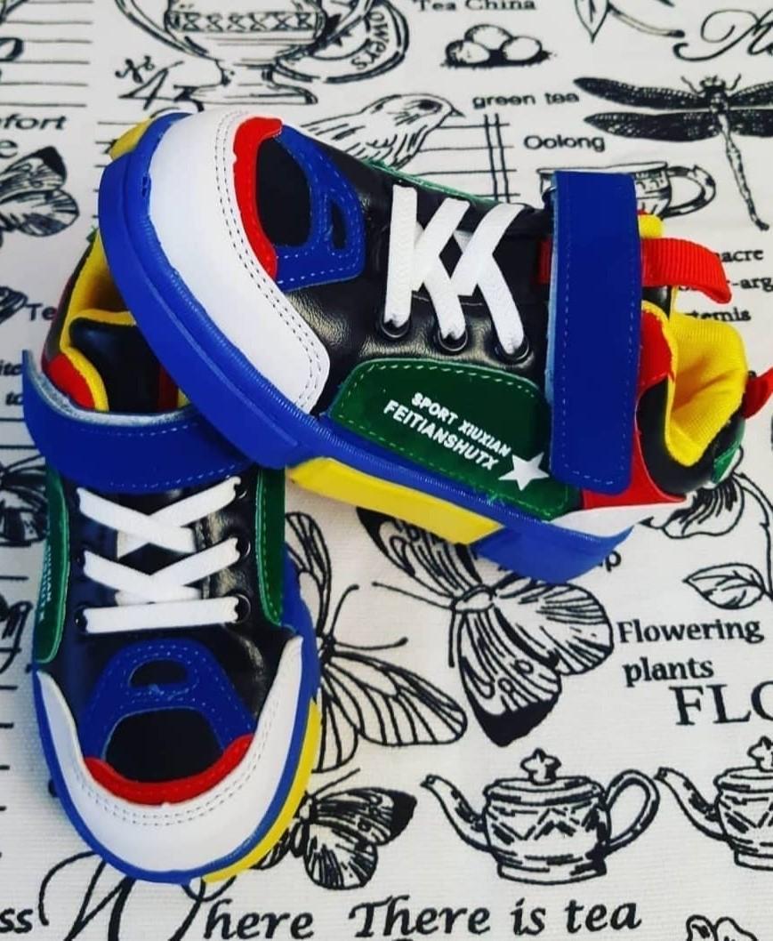 Детские кроссовки для мальчиков МЫШОНОК, цвет: синий, артикул: MOU-3