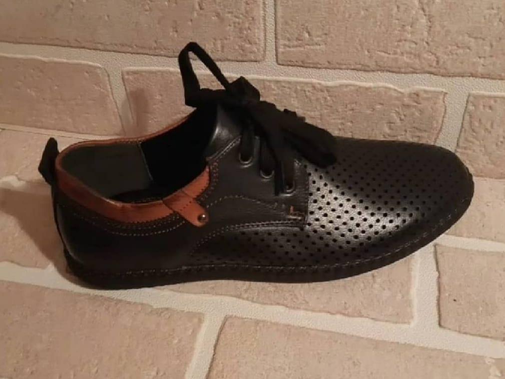 Детские туфли школьные для мальчиков LUIVITO