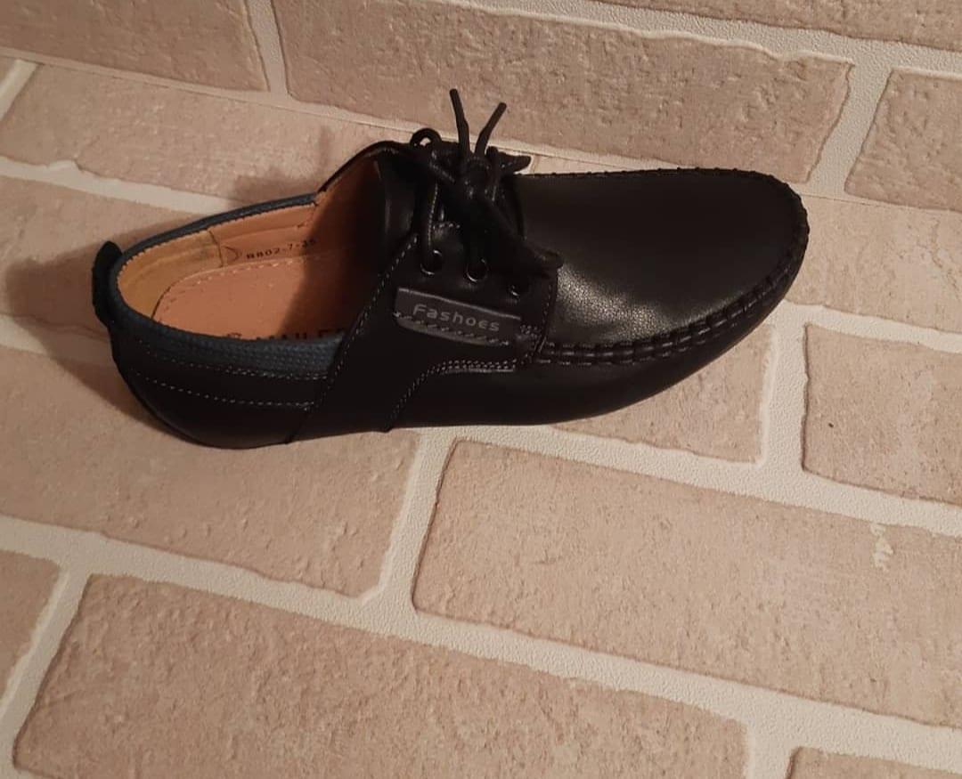 Детские туфли школьные для мальчиков MAILAIFA