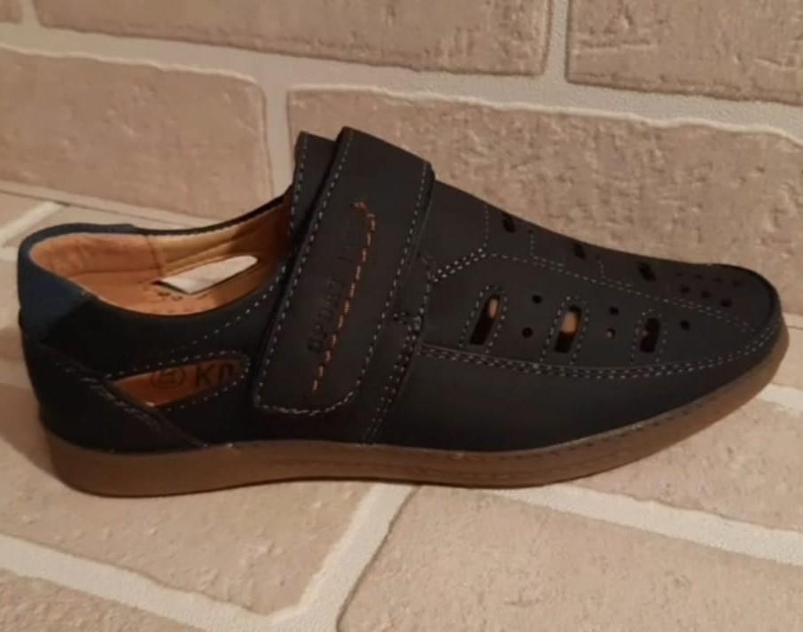 Детские туфли школьные для мальчиков КОЛОБОК