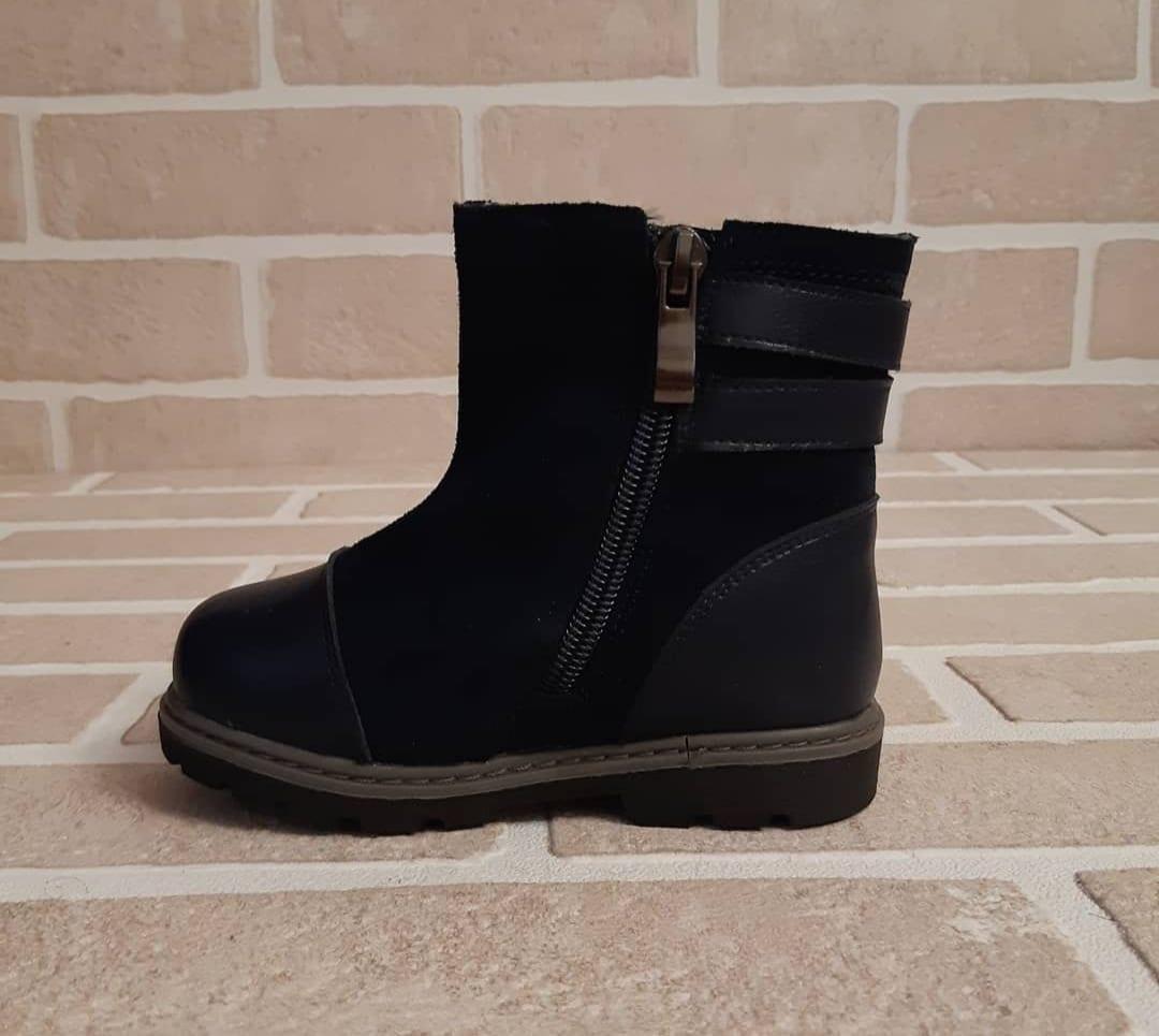 Детские ботинки зимние для девочек BONADDA из натуральной кожи