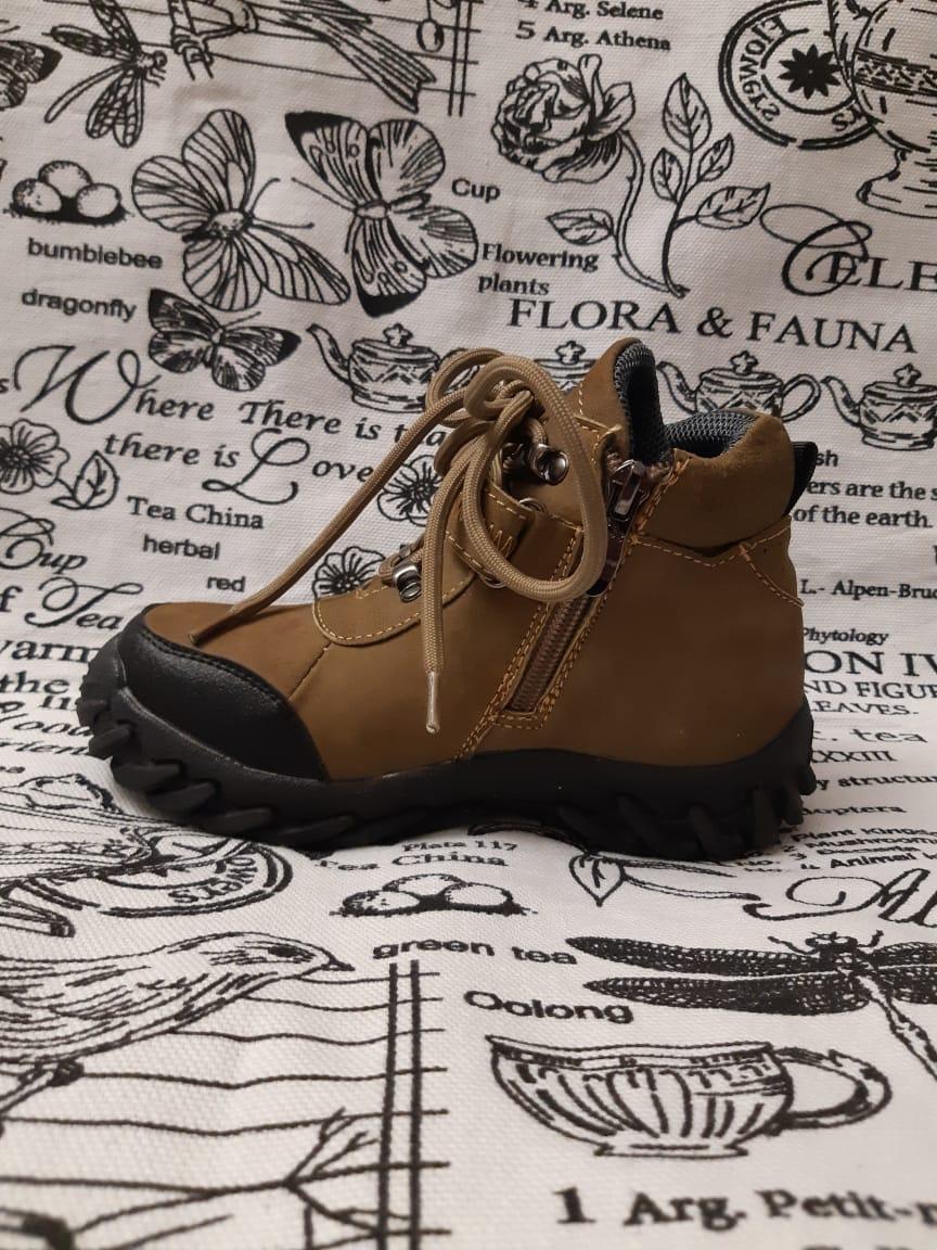 Детские ботинки зимние для мальчиков ВЕСЕЛЫЙ МИШКА из натуральной кожи