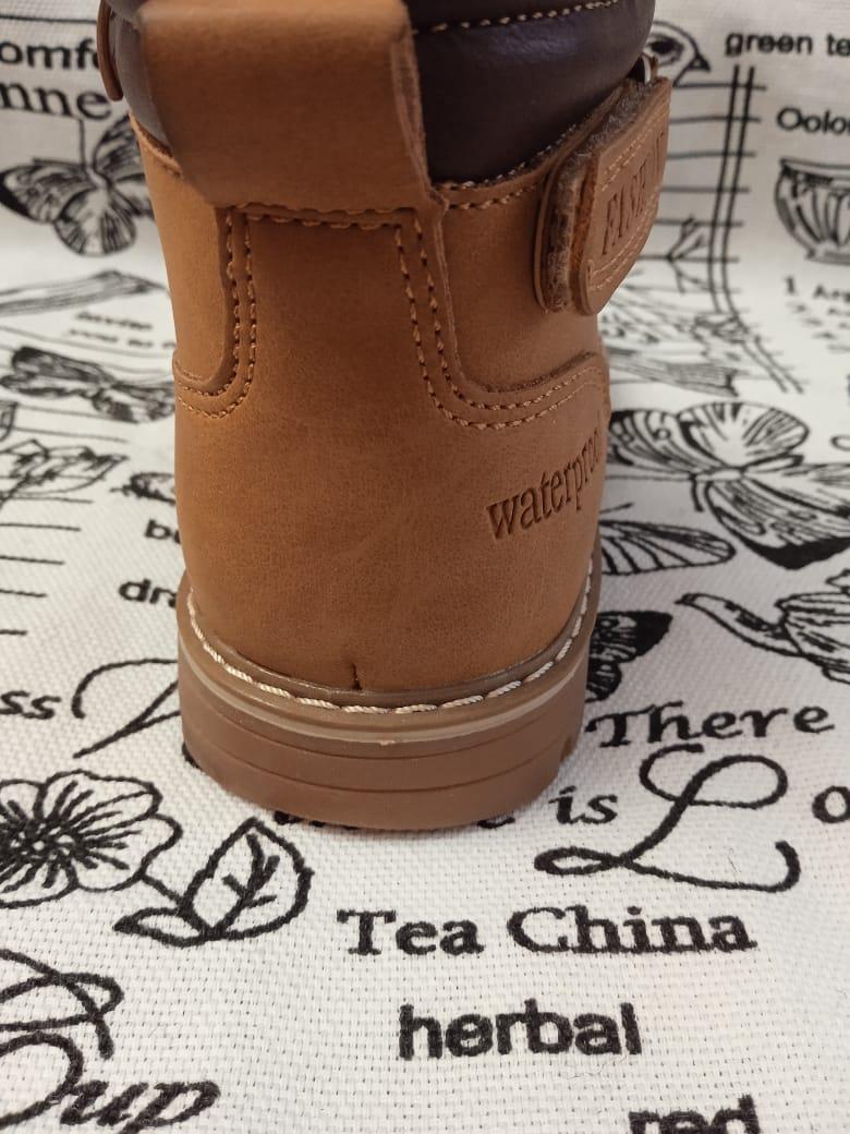 Детские ботинки, цвет: коричневый, артикул: KF-1