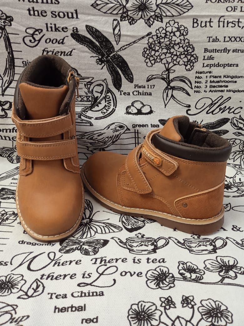 Детские ботинки BESSKY, цвет: коричневый, артикул: BS-5