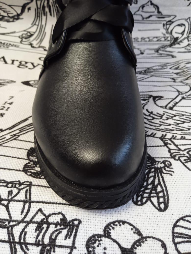 Детские ботинки для девочек BESSKY, цвет: черный, артикул: BS-4