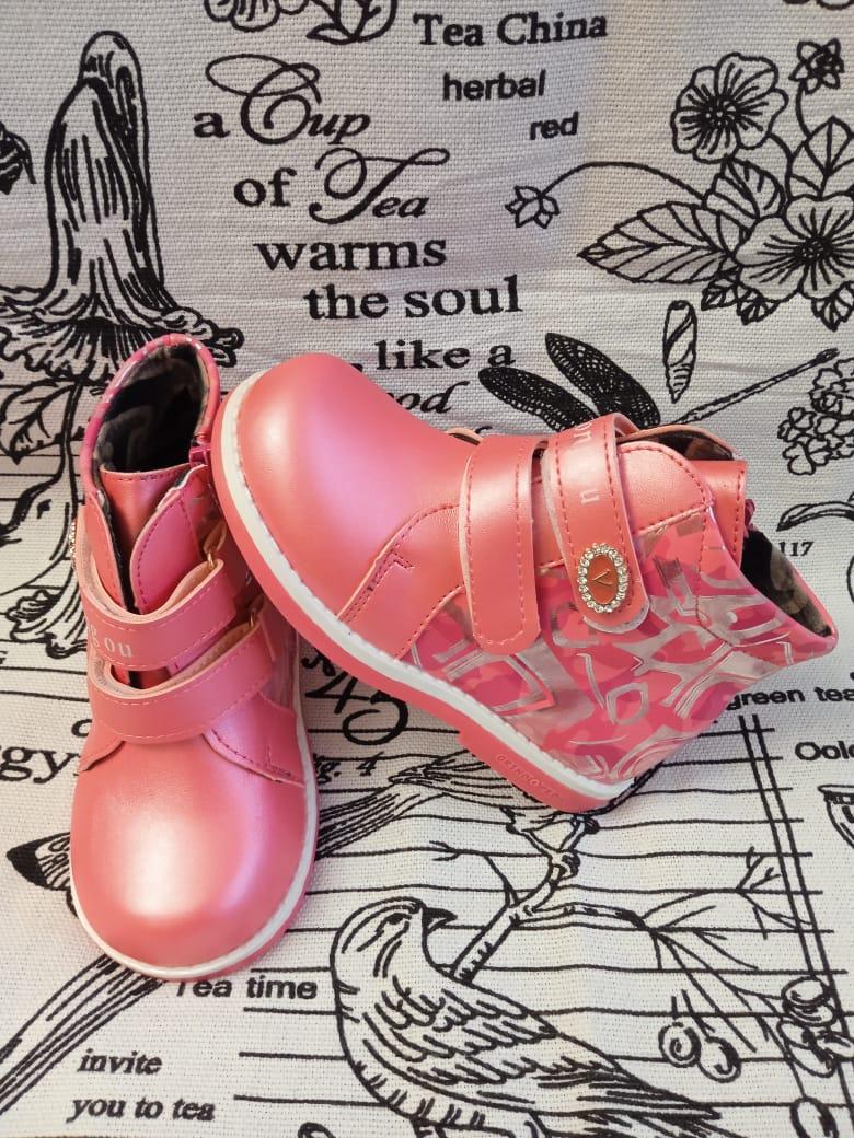 Детские ботинки для девочки, цвет: розовый, артикул: DO-2