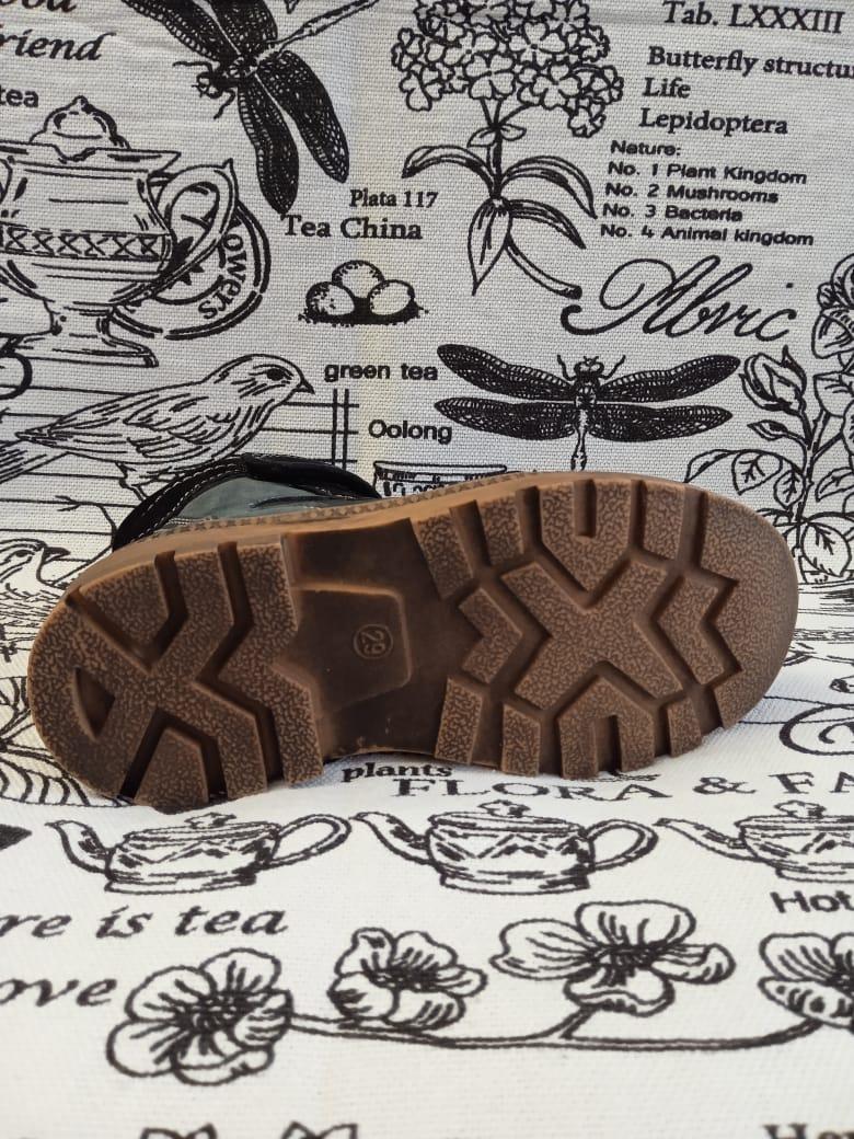 Детские ботинки для мальчиков КАПИТОШКА из натуральной кожи, цвет: синий, артикул: F11883