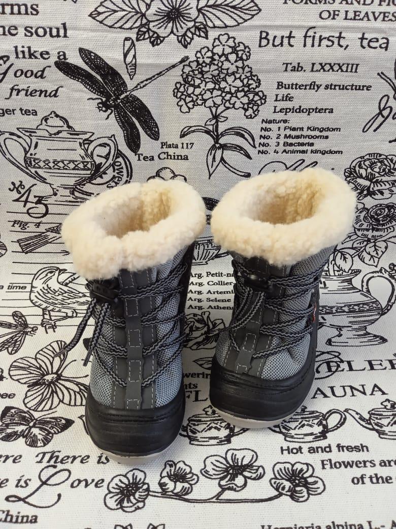 Детские ботинки зимние ALISA, цвет: серый, артикул: А601