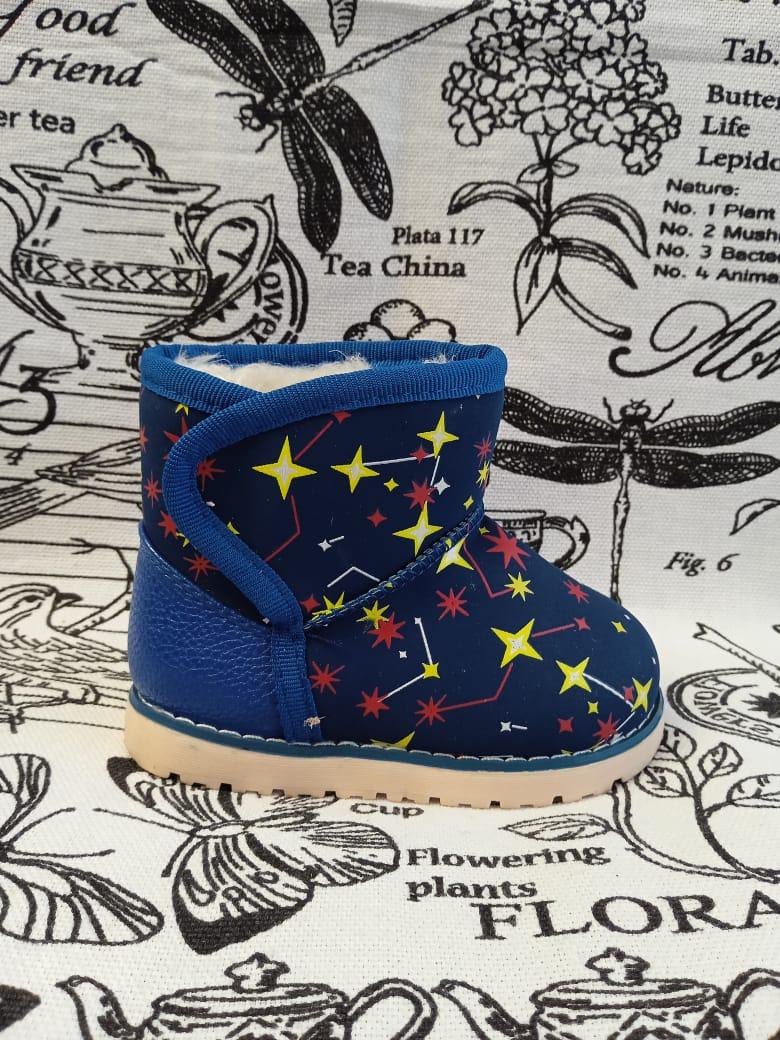 Детские ботинки зимние YTOP, цвет: синий, артикул: YTP-1