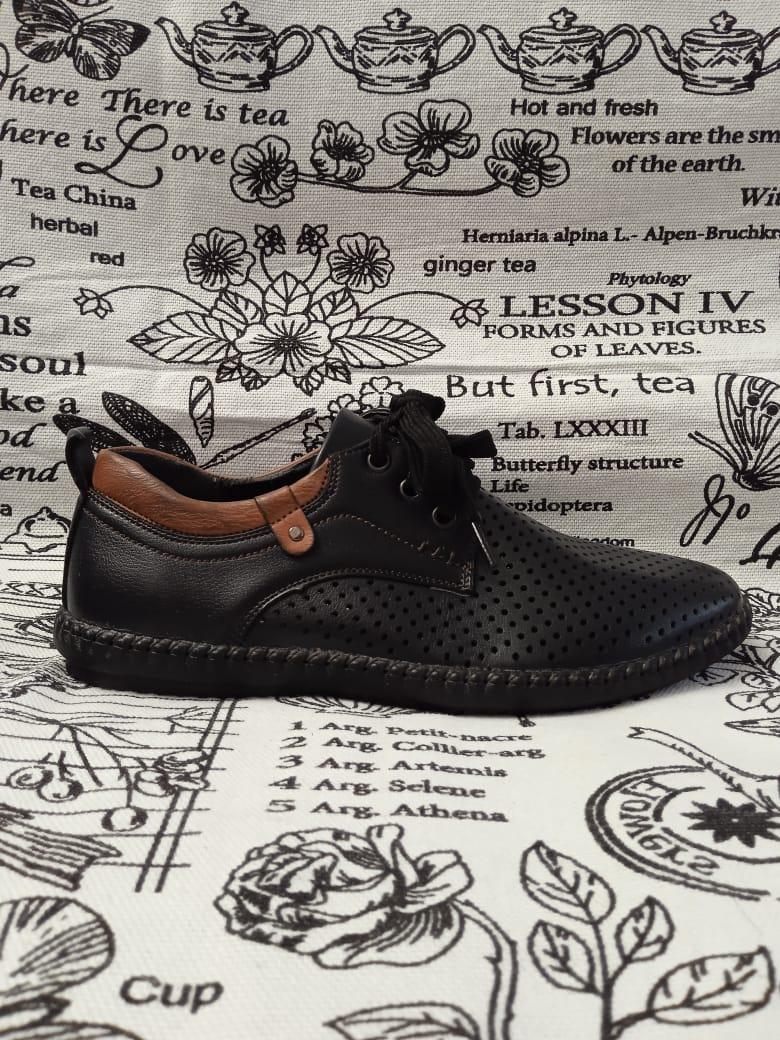 Детские туфли школьные для мальчиков, цвет: черный, артикул: A60-6-8