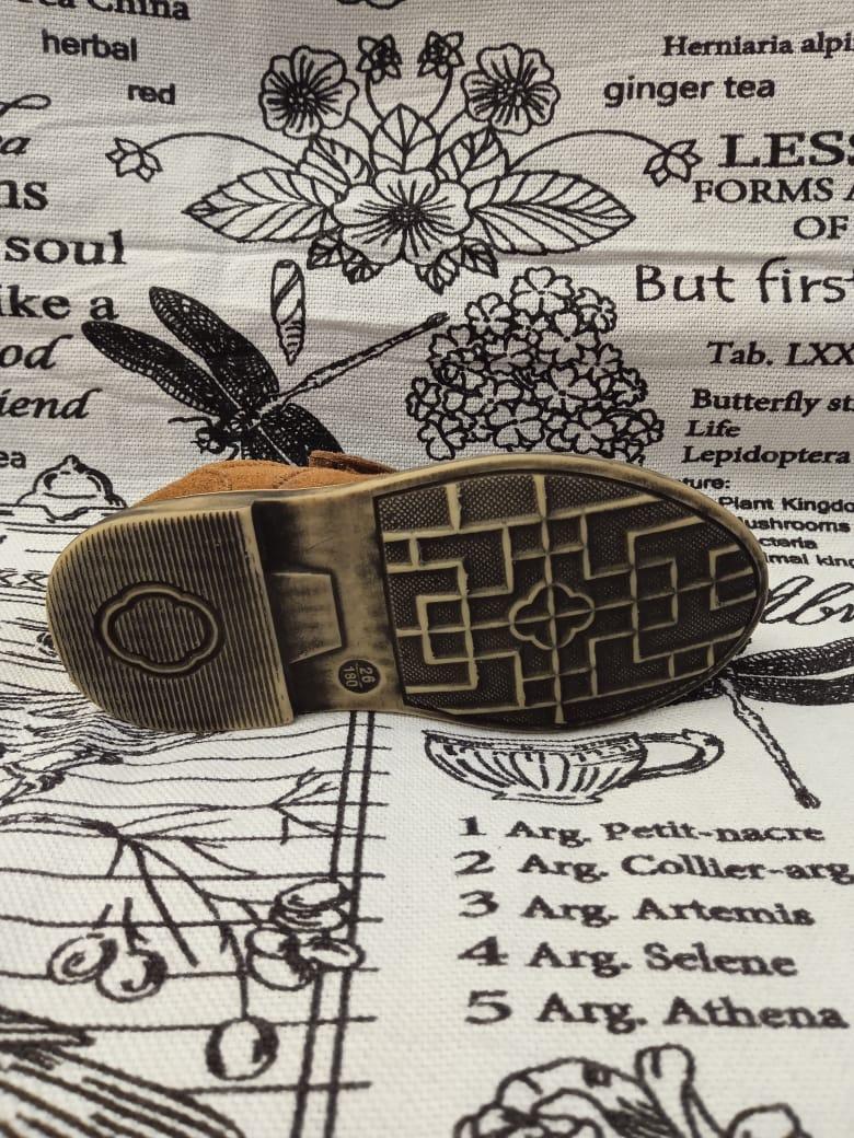 Детские туфли для мальчиков КАПИТОШКА из натуральной кожи, цвет: коричневый, артикул: С7192
