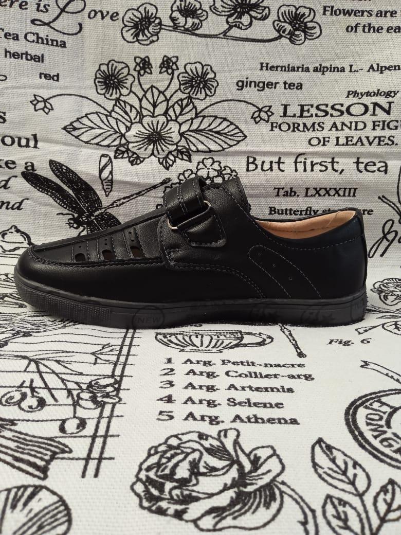 Детские туфли школьные для мальчиков ТОТОШКА, цвет: черный, артикул: N1812-A