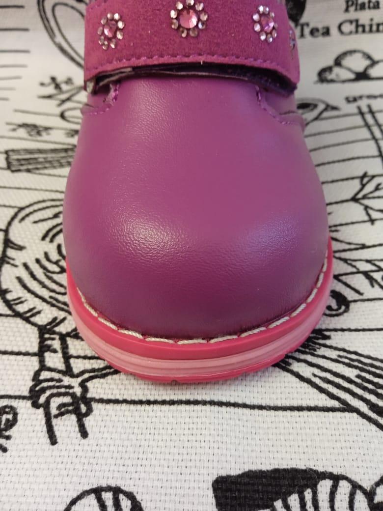 Детские ботинки зимние для девочек ОРЛЕНОК из натуральной кожи, цвет: розовый, артикул: ORL-1455