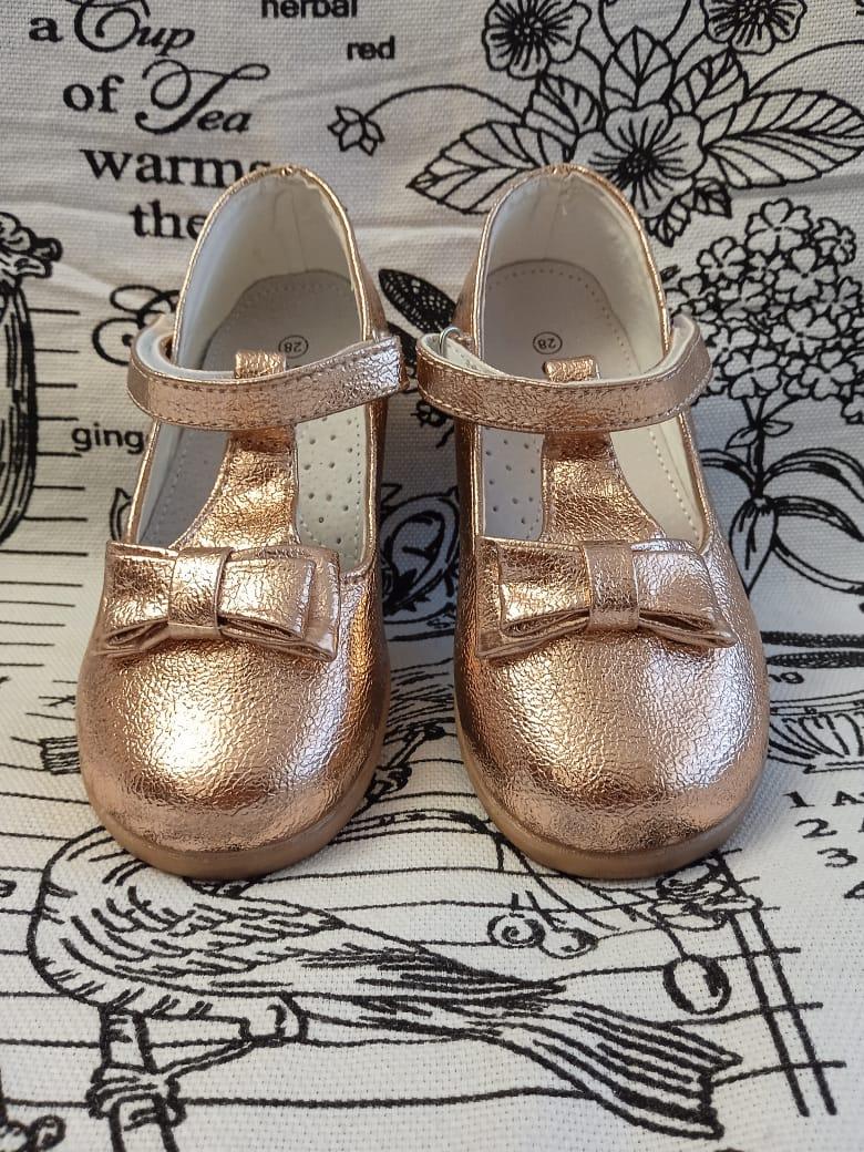 Детские туфли для девочек SISTER, цвет: золотой, артикул: 7809-1