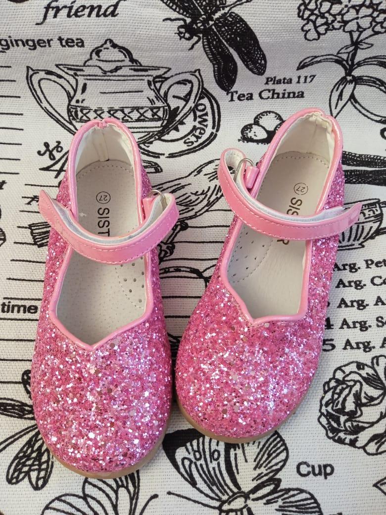 Детские туфли для девочек SISTER, цвет розовый, артикул: 7806-3