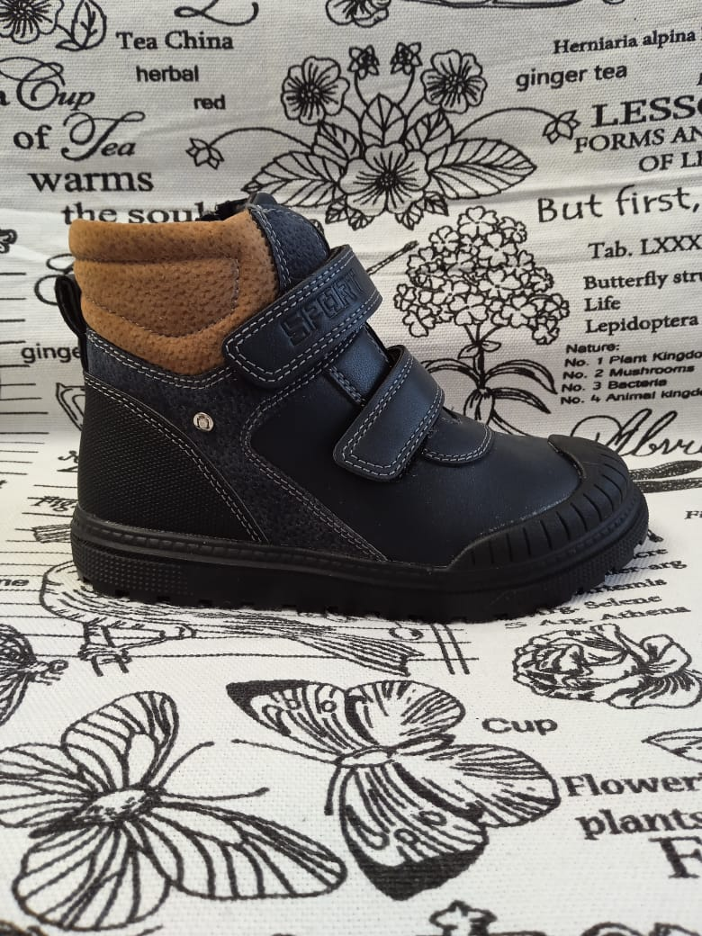 Детские ботинки для мальчиков МЫШОНОК, цвет: черный, артикул: N7106-B
